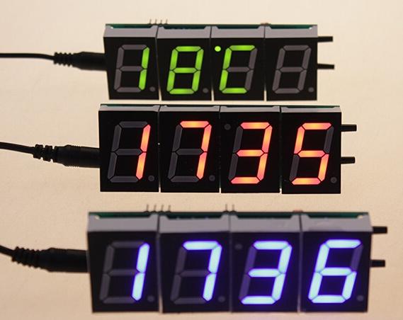 数码管数字时钟待温度测试 - 电子制作diy