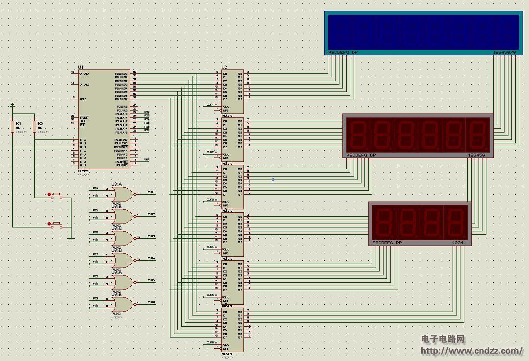 2008奥运倒计时单片机课程设计电路图.jpg