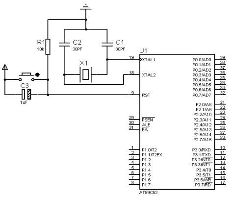 1 振荡电路 单片机系统里都有晶振,结合单片机内部电路产生单片机所需