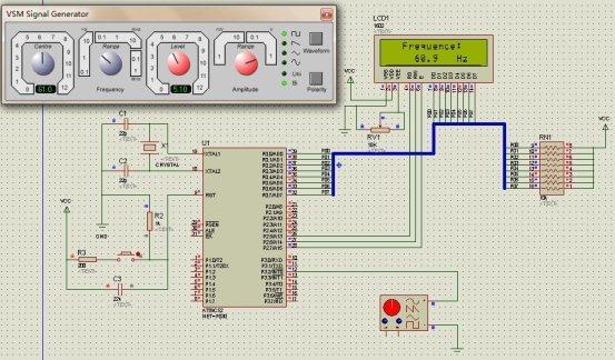 数字频率计 用单片机定时器和中断来实现 带流程图 调试程序 实物图