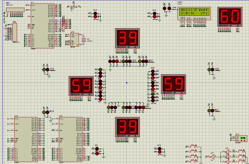 基于单片机的智能交通灯系统的设计 含PPT PCB 毕业答辩论文 51单片