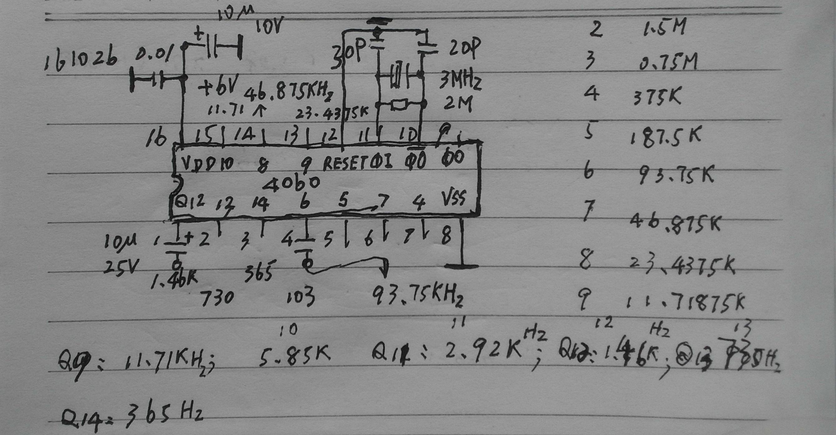 4060信号发生器电路图