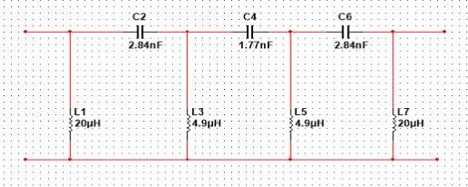z正弦信号振荡器 图     带通滤波器电路设计 本部分用的是 multisim