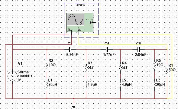 射频电路实训报告论文下载 滤波器设计(低通 带通 高通)振荡器(低频