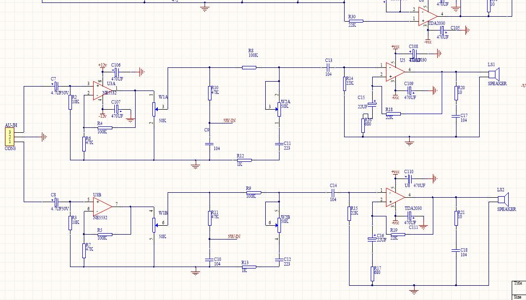 功放板基于lm1875/tda2030 原理图与pcb