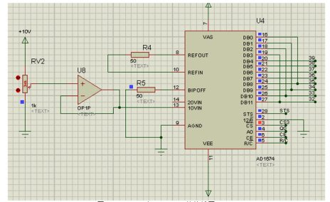 图2.3 ad574与at89s52的接线图