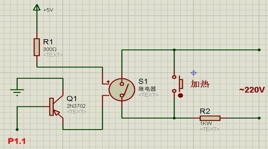 脉冲波经由q1,r1组成的放大电路后作用于蜂鸣器buzi的线圈上,线圈产生