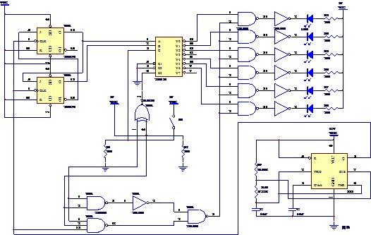 基于555多谐振荡器的汽车尾灯控制电路设计论文
