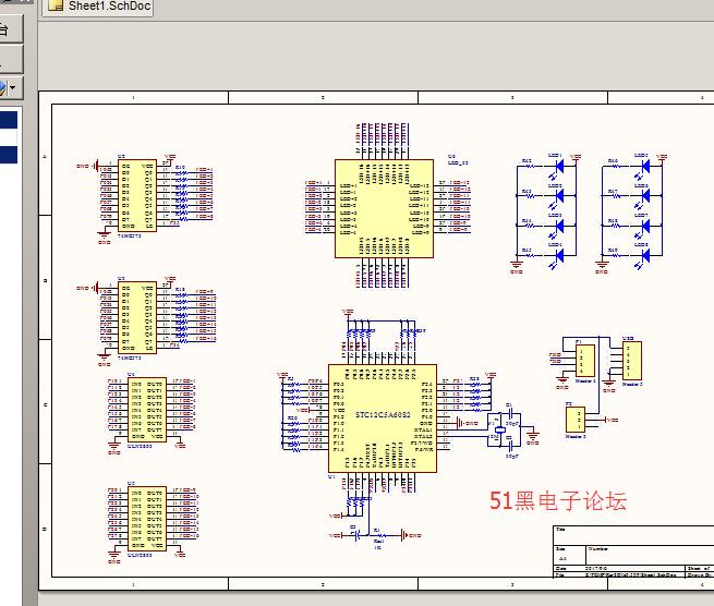 广州塔pcb原理图和代码 - 51单片机 单片机论坛