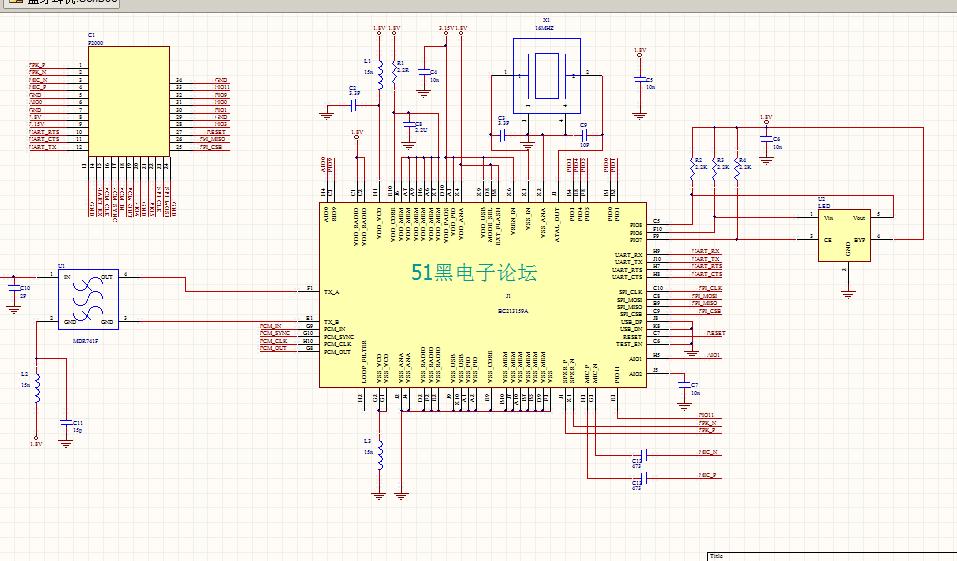 bc213159a藍牙耳機 ad原理圖及pcb圖圖片