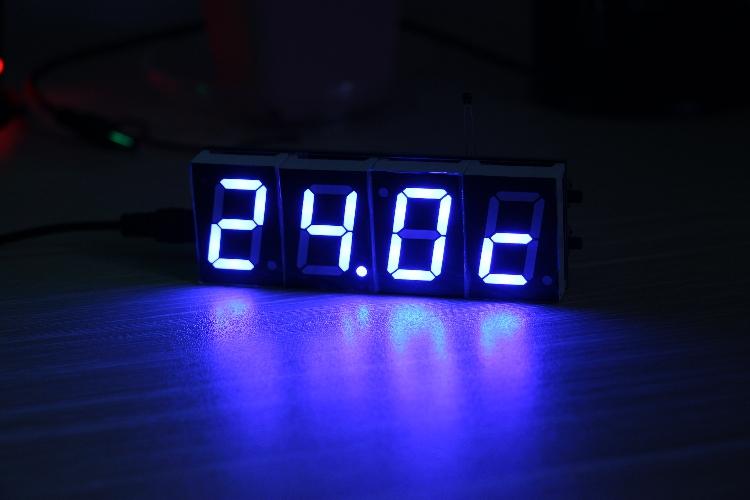 单片机 1寸时钟 可调 整点报时 闹钟 温度 源程序图片