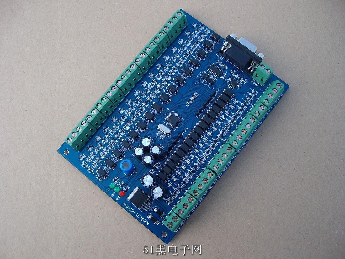51单片机原理及应用_16路输入输出可编程晶体管工控板原理图PCB工程与源码下载 ...