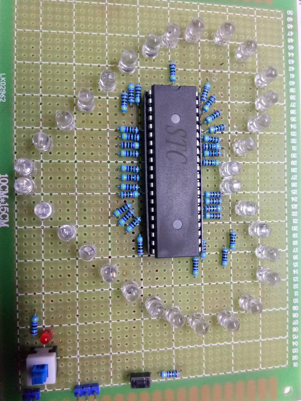 单片机心形流水灯制作视频与源码 希望能激发青年对电子的兴趣!