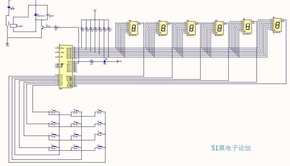 pcb 制版_51单片机电子密码锁设计PCB制版和原理图及仿真和源码 - Altium ...