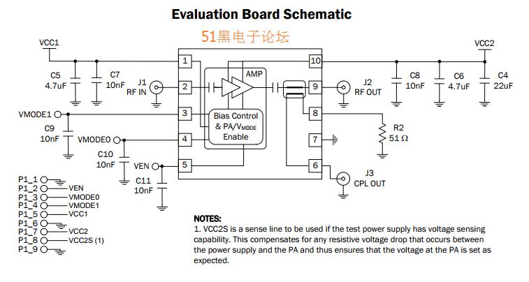 rf7321引脚图与电路图 射频pa功放pdf资料下载