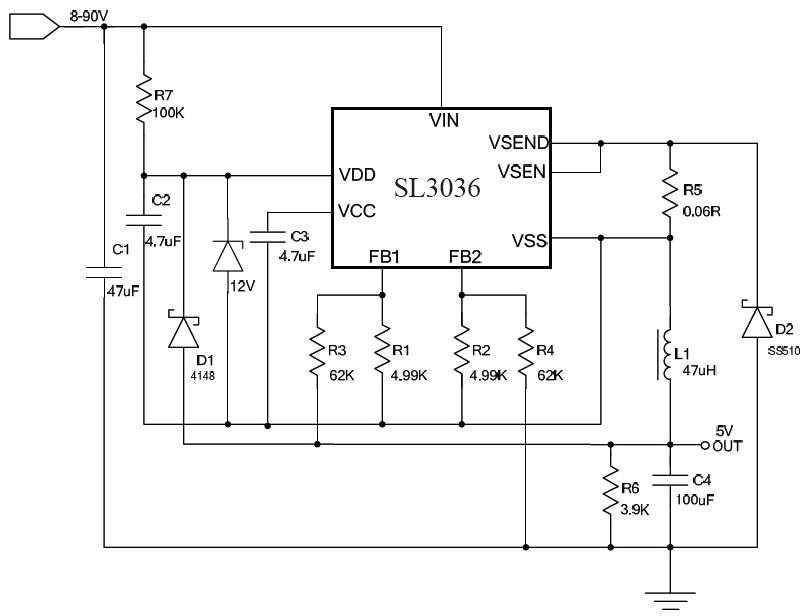 SL3036典型应用