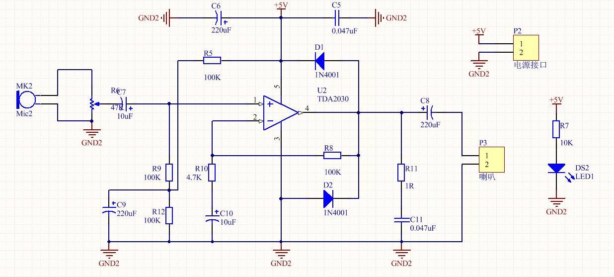 TDA2030功放电路PCB源文件 电路原理图 音响 功放 HIFI diy 单片机论坛图片